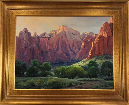"Capitol Reef, Elva Malin, 30"" x 40,"" oil on canvas, 1989"